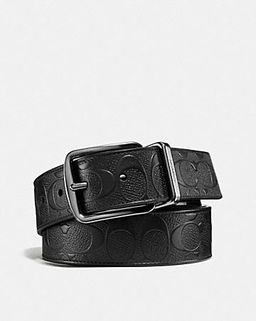 e1fc1dd82655 WIDE HARNESS CUT-TO-SIZE REVERSIBLE BELT IN SIGNATURE LEATHER ...