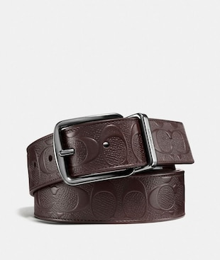 WIDE HARNESS CUT-TO-SIZE REVERSIBLE BELT IN SIGNATURE LEATHER
