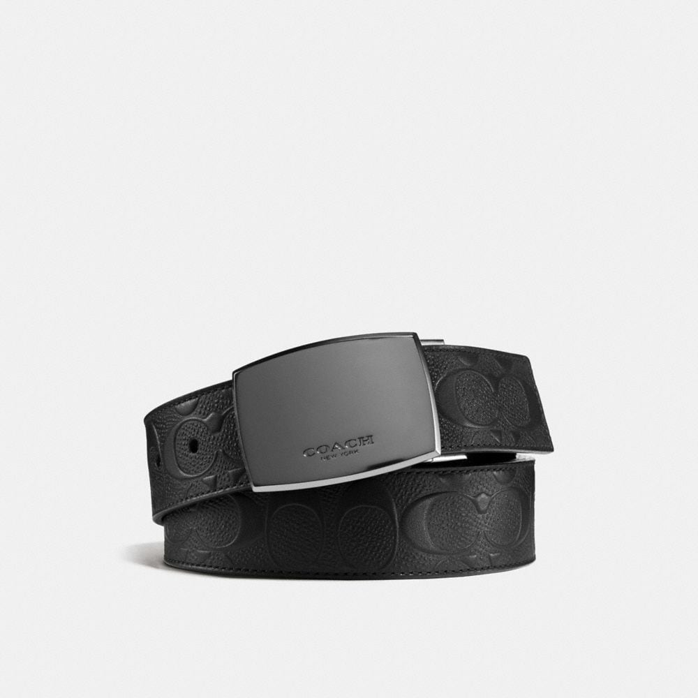 CLASSIC PLAQUE CUT-TO-SIZE REVERSIBLE BELT IN SIGNATURE LEATHER