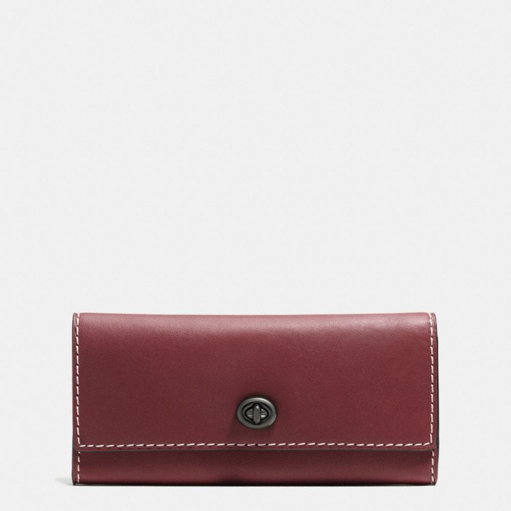TURNLOCK WALLET IN BURNISHED GLOVETANNED LEATHER