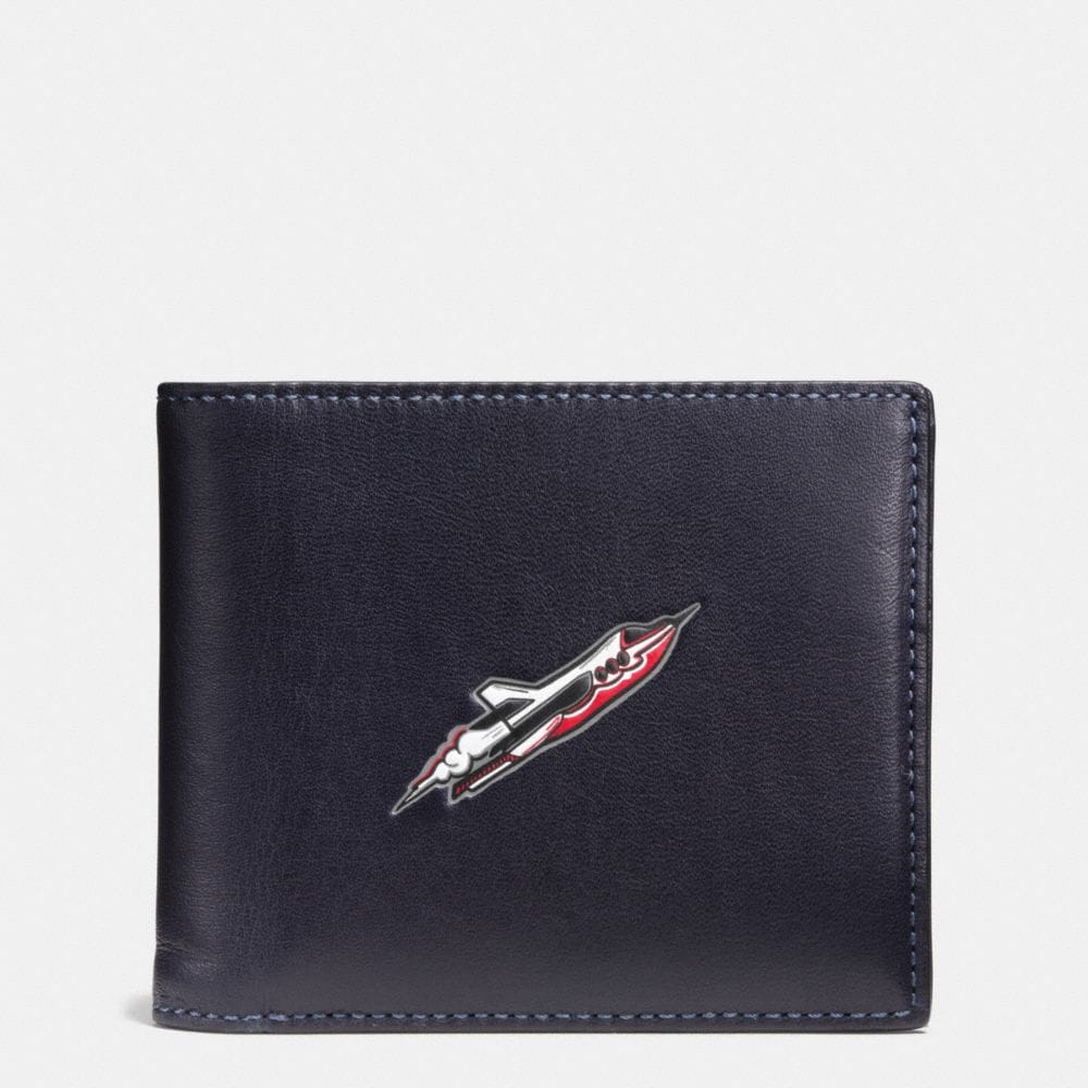 ROCKET SHIP 3-IN-1 WALLET IN GLOVETANNED LEATHER