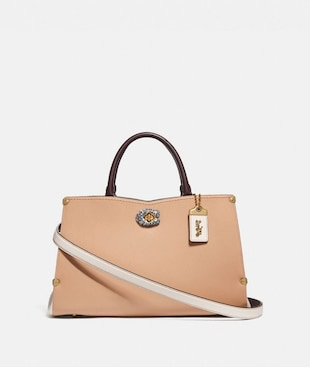 MASON CARRYALL IN COLORBLOCK WITH SNAKESKIN DETAIL