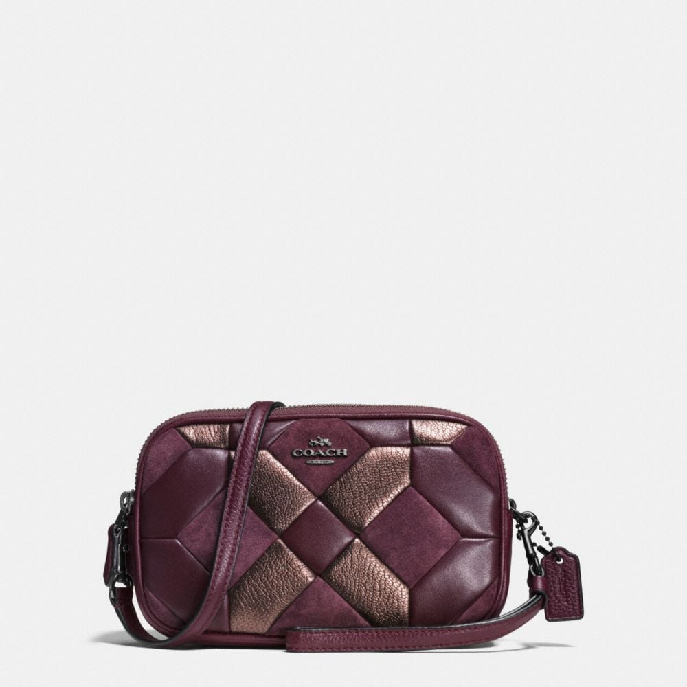 CROSSBODY CLUTCH IN MIXED MATERIALS CANYON QUILT