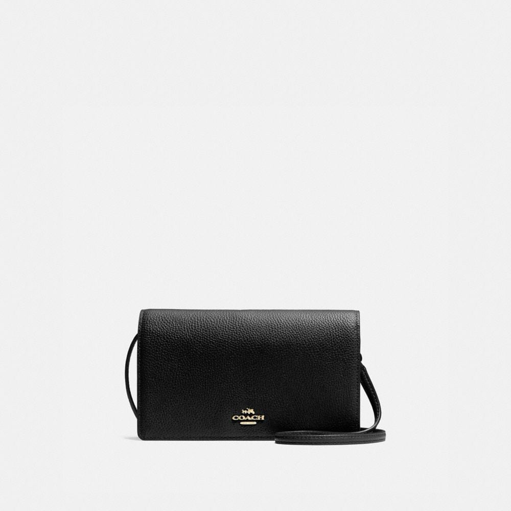 FOLDOVER CROSSBODY IN POLISHED PEBBLE LEATHER
