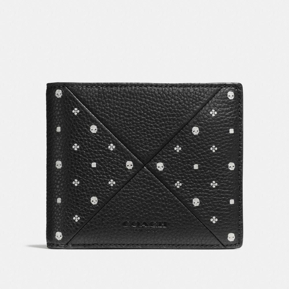 3-IN-1 WALLET IN BANDANA PATCHWORK LEATHER