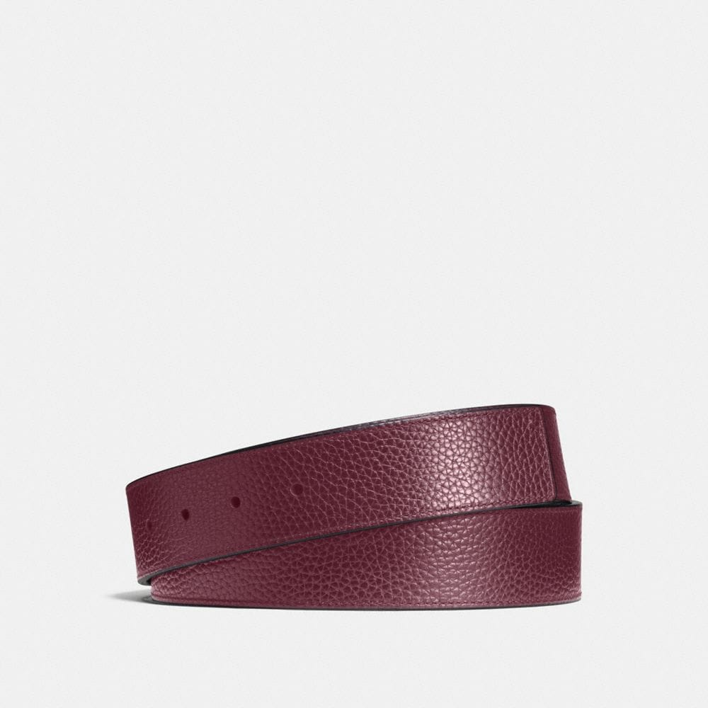 CUT-TO-SIZE REVERSIBLE LEATHER BELT STRAP