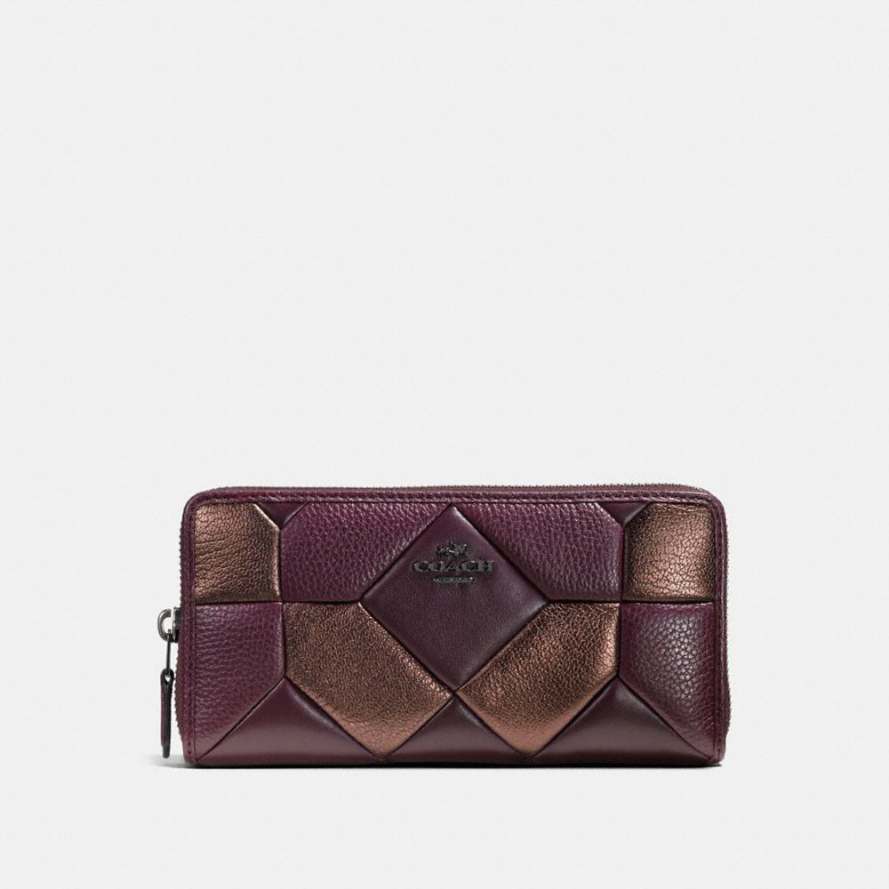 ACCORDION ZIP WALLET IN MIXED MATERIALS CANYON QUILT