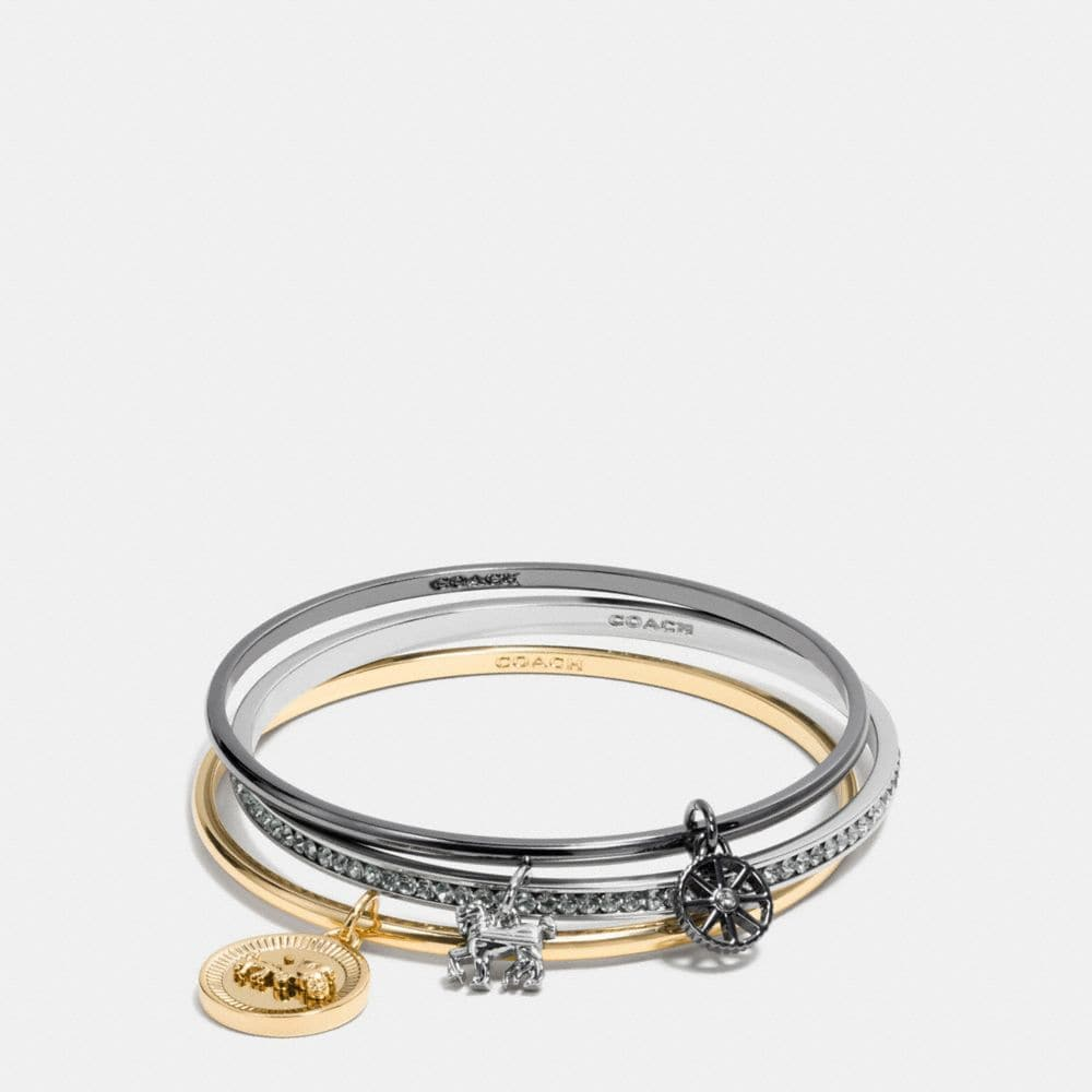 HORSE AND CARRIAGE COIN MIX BANGLE SET