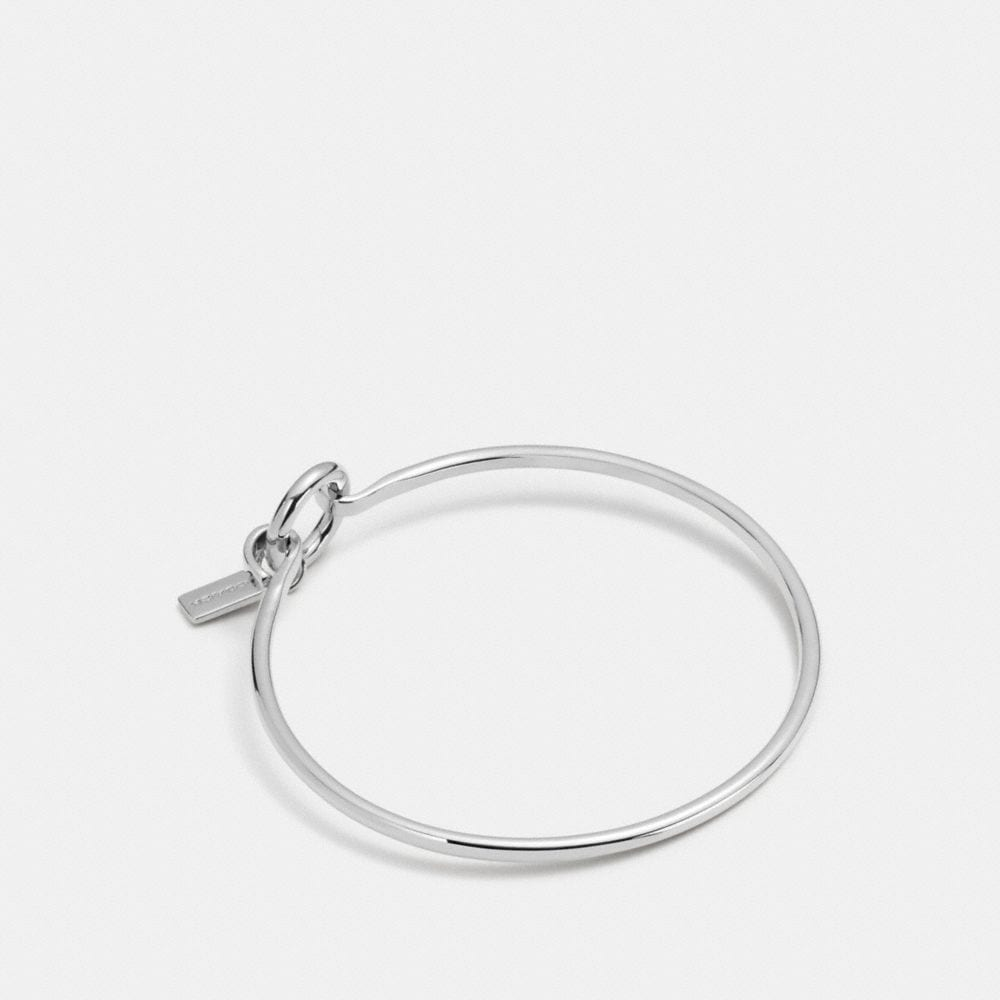 CHARM BASE HINGED HOOP BANGLE