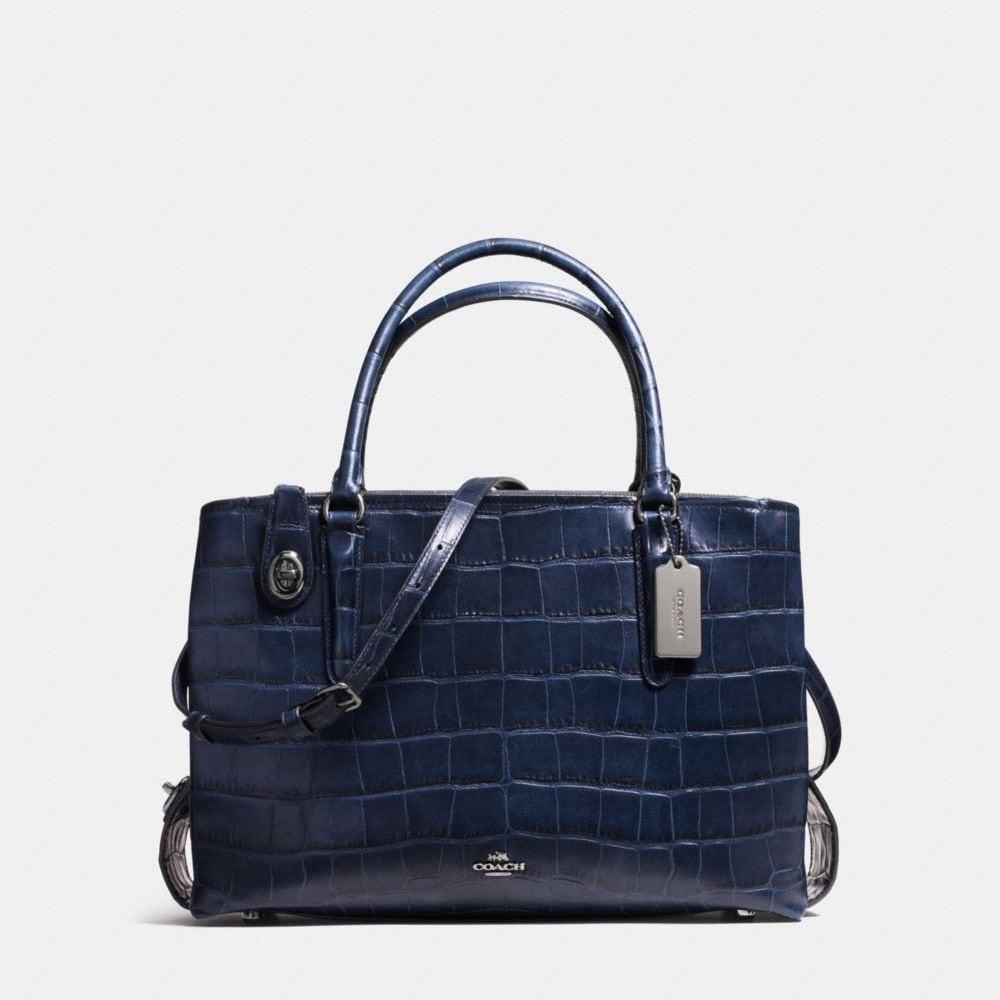 BROOKLYN CARRYALL 34 IN CROC EMBOSSED LEATHER