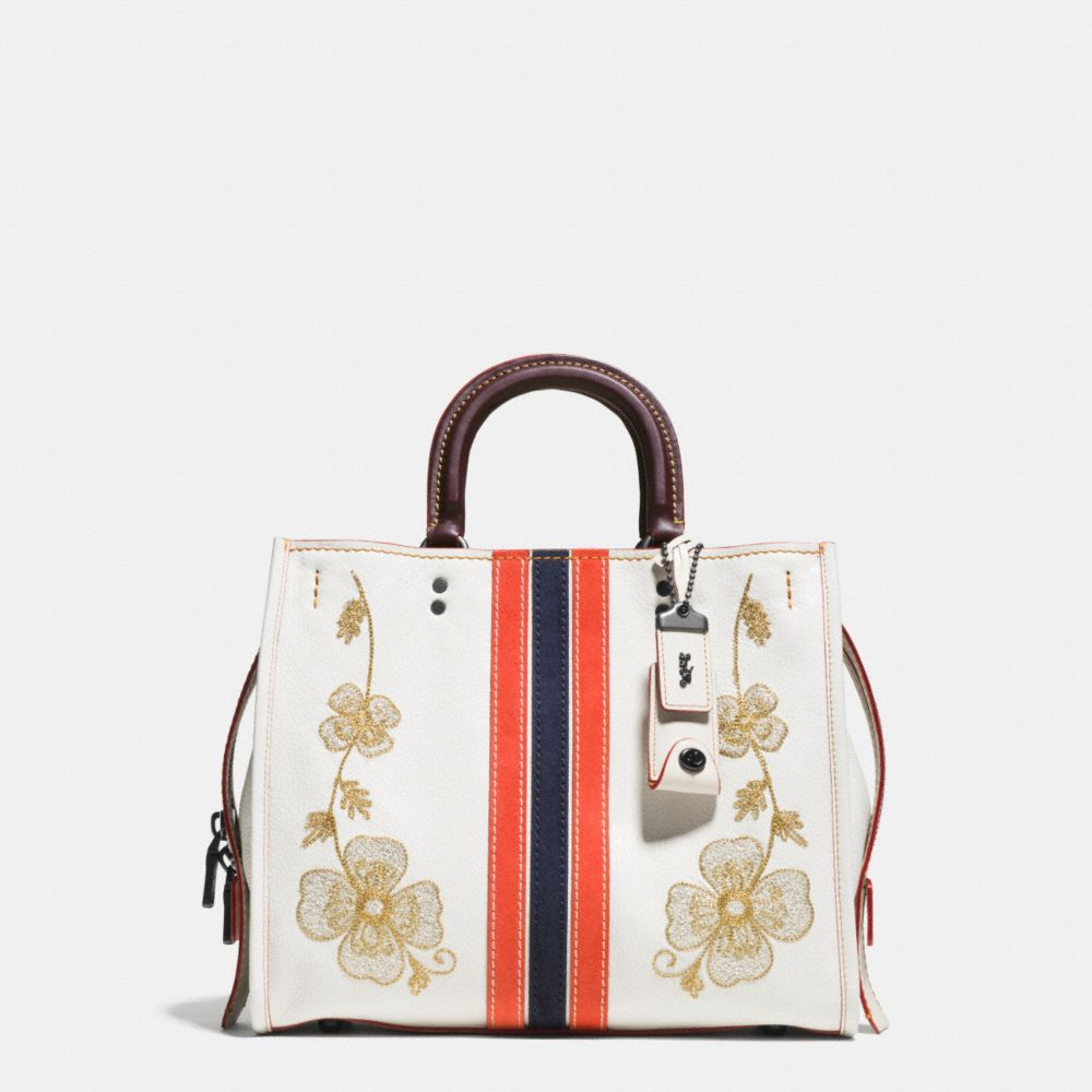 WESTERN EMBROIDERY ROGUE BAG IN PEBBLE LEATHER