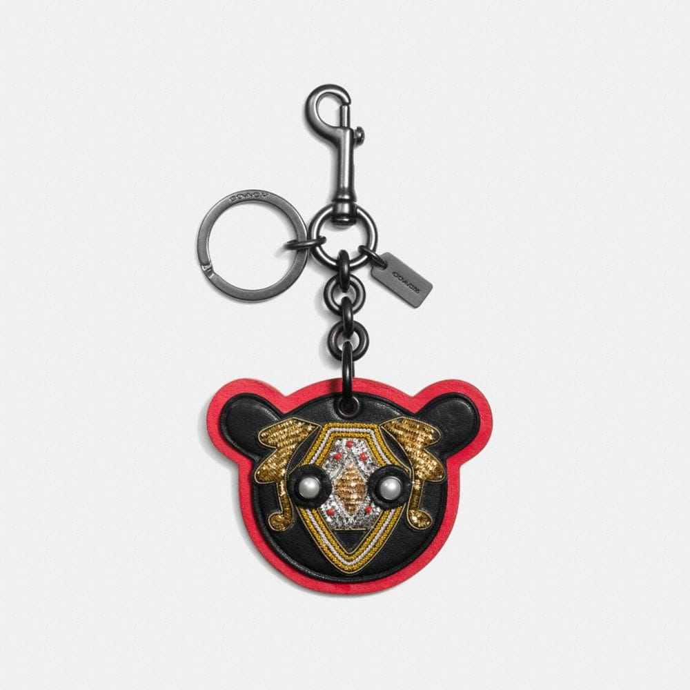 BULLION BEAR PATCH BAG CHARM
