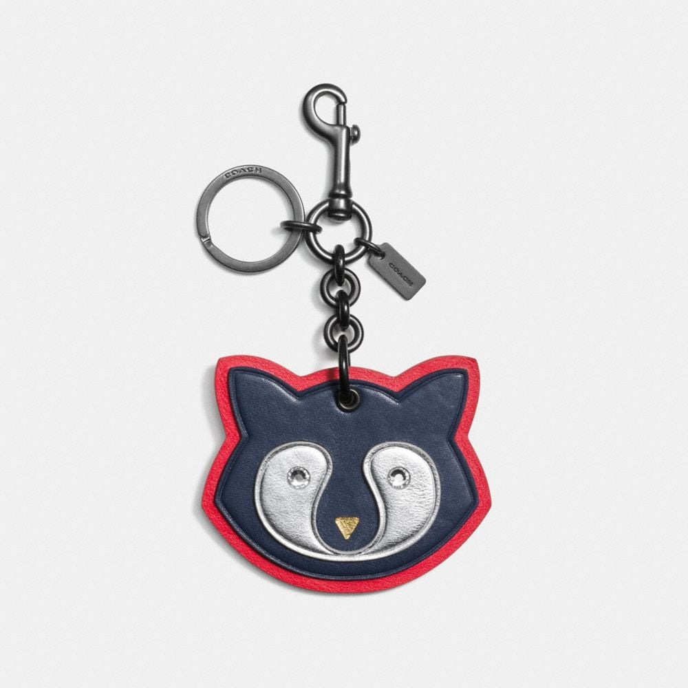 RACCOON PATCH BAG CHARM