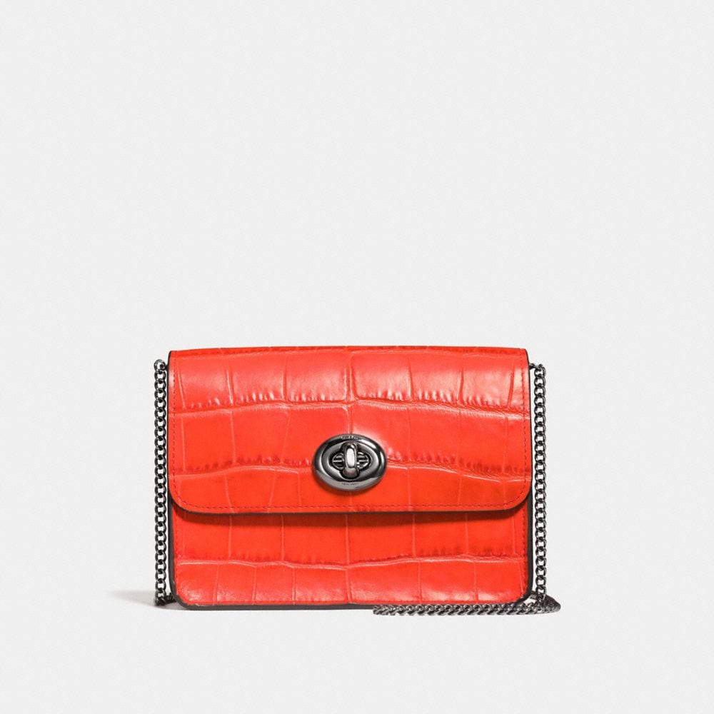 BOWERY CROSSBODY IN CROC EMBOSSED LEATHER