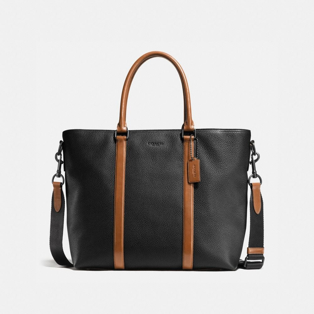 METROPOLITAN TOTE IN MATERIAL BLOCK LEATHER