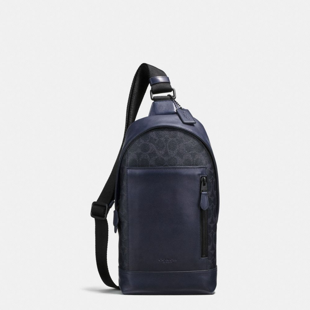 MANHATTAN SLING PACK IN SIGNATURE COATED CANVAS