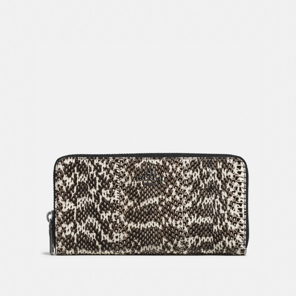 ACCORDION ZIP WALLET IN SNAKE