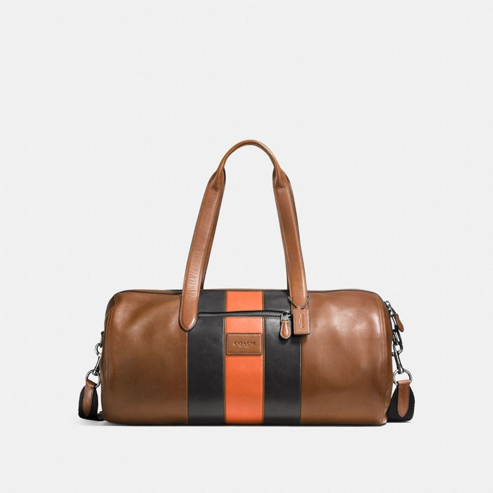 VARSITY STRIPE METROPOLITAN SOFT GYM BAG IN SPORT CALF LEATHER