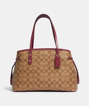 DRAWSTRING CARRYALL IN SIGNATURE CANVAS