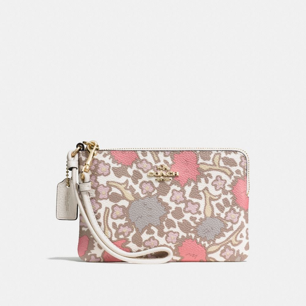 coach canada outlet online h1ox  SMALL WRISTLET IN YANKEE FLORAL PRINT COATED CANVAS