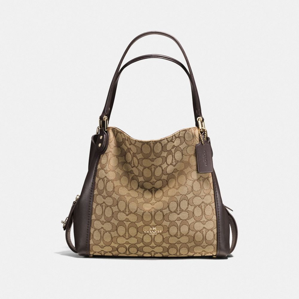 coach shoulder bags outlet 1nrr  EDIE SHOULDER BAG 31 IN SIGNATURE JACQUARD