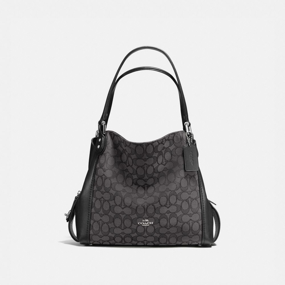 EDIE SHOULDER BAG 31 IN SIGNATURE JACQUARD