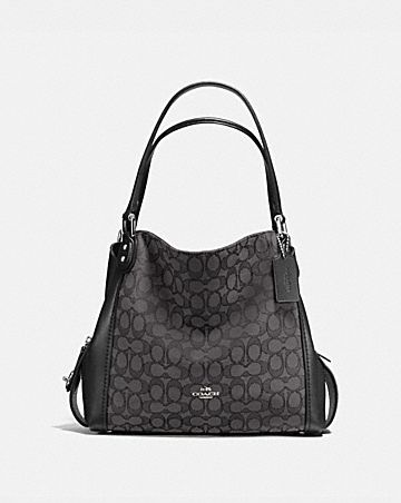 E Shoulder Bag 31 In Signature Jacquard