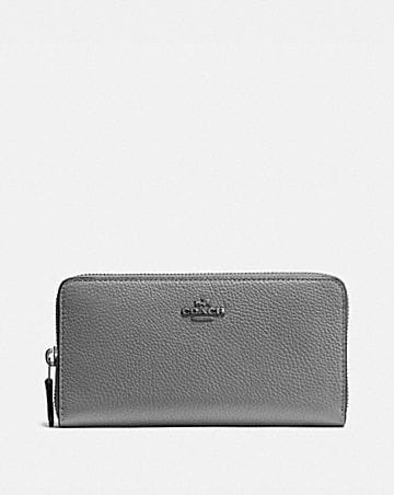 Card Holder for Women On Sale, Metallic Rose, Leather, 2017, One size Coach