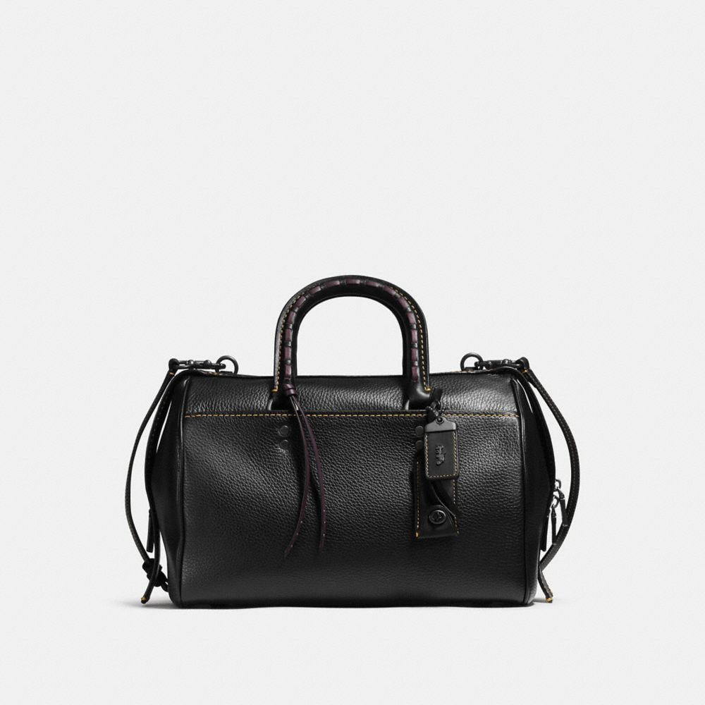 ROGUE SATCHEL WITH EMBELLISHED HANDLE IN GLOVETANNED PEBBLE LEATHER