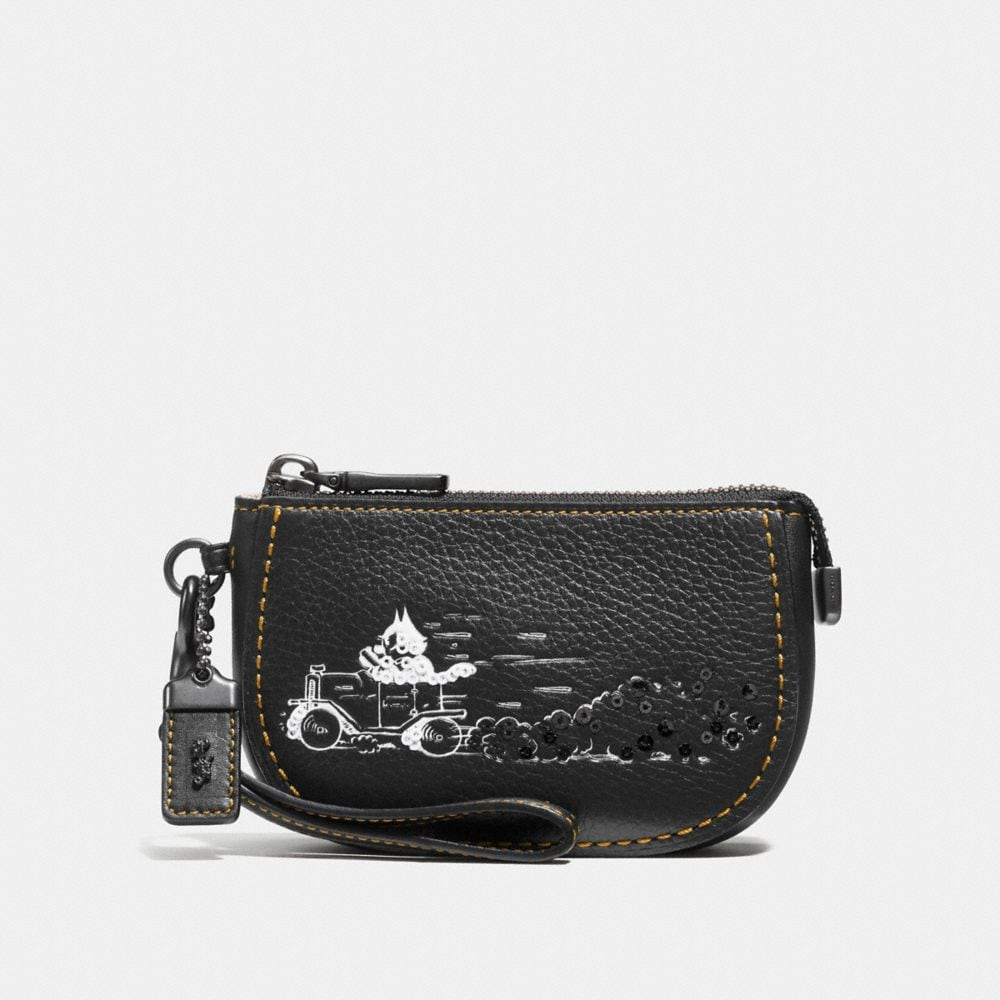 FELIX DRIVING POUCH IN PEBBLE LEATHER