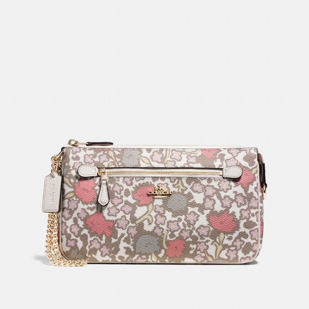 coach coin purse outlet 14iu  NOLITA WRISTLET 24 IN YANKEE FLORAL PRINT COATED CANAVAS