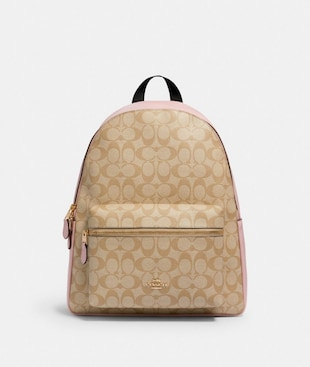 CHARLIE BACKPACK IN SIGNATURE CANVAS