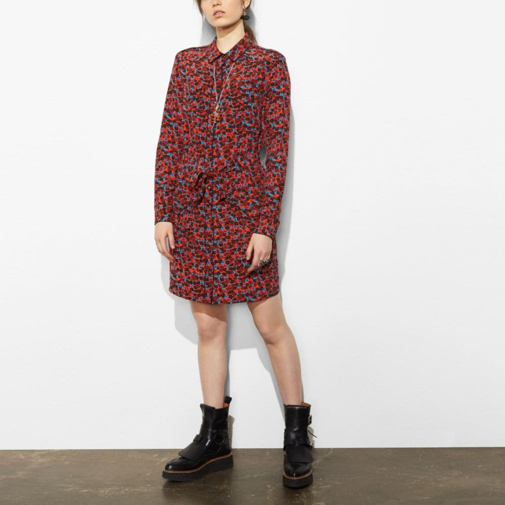PIPED SHIRT DRESS