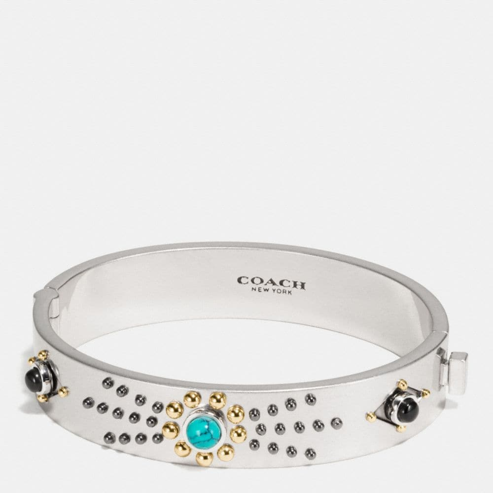 WESTERN RIVETS HINGED BANGLE