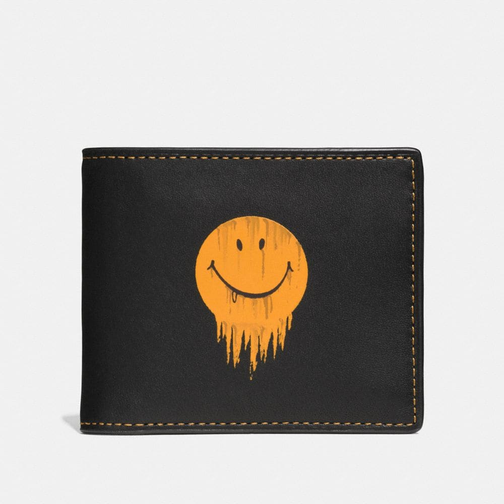 GNARLY FACE 3-IN-1 WALLET IN GLOVETANNED LEATHER