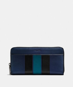 ACCORDION WALLET WITH VARSITY STRIPE