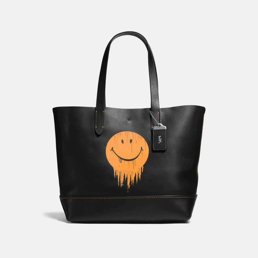 GOTHAM TOTE IN GNARLY FACE PRINT GLOVETANNED LEATHER