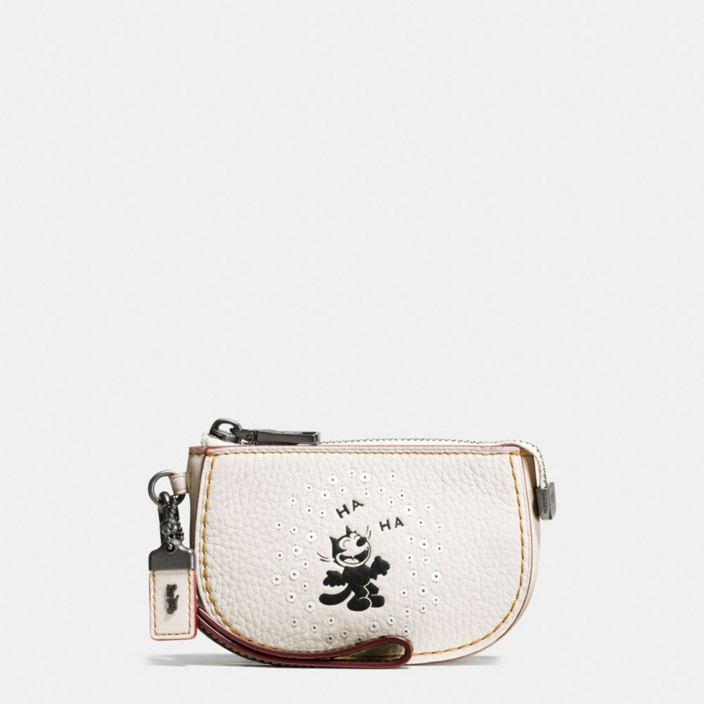 FELIX LAUGHING POUCH IN PEBBLE LEATHER