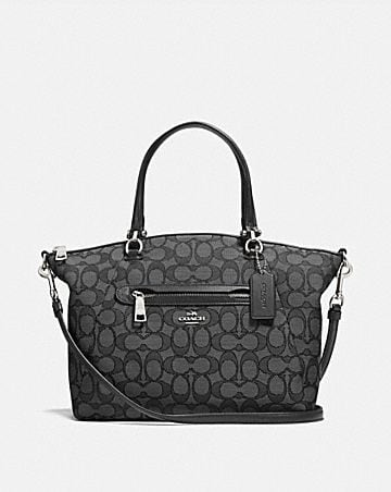 PRAIRIE SATCHEL IN SIGNATURE JACQUARD