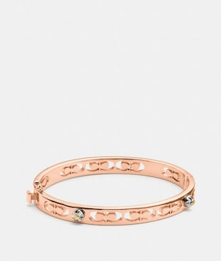 DAISY RIVET SIGNATURE HINGED BANGLE