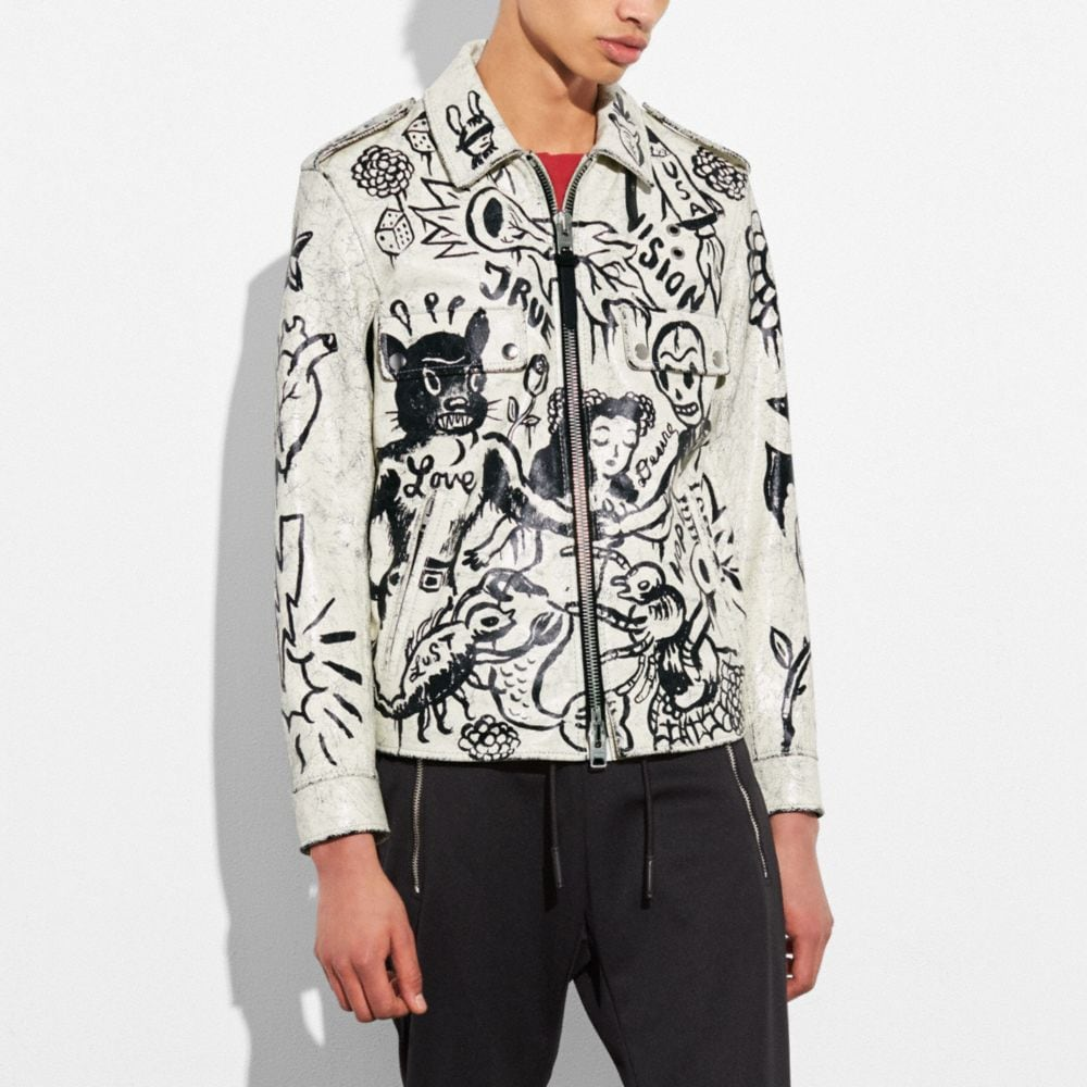 PRINTED OFFICER JACKET