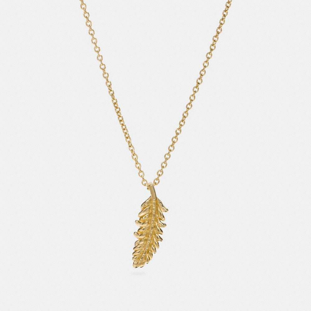 MINI DEMI-FINE FEATHER NECKLACE
