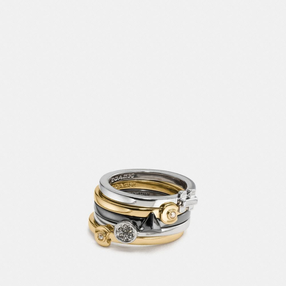 COACH DECO MIX RING SET