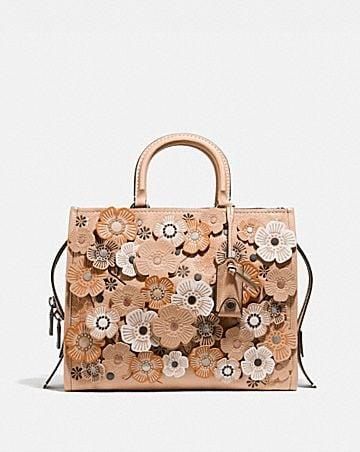 Womens bags coach rogue with tea rose mightylinksfo