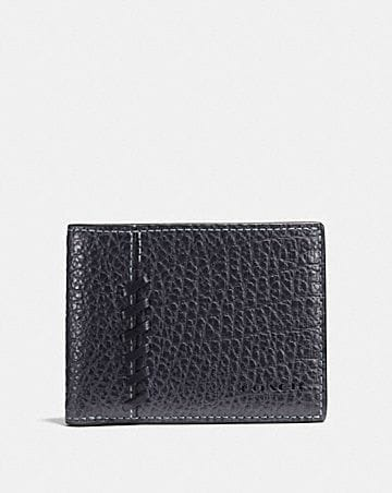 3dd549e337c1 slim billfold wallet with coach patch · RIP AND REPAIR SLIM BILLFOLD WALLET
