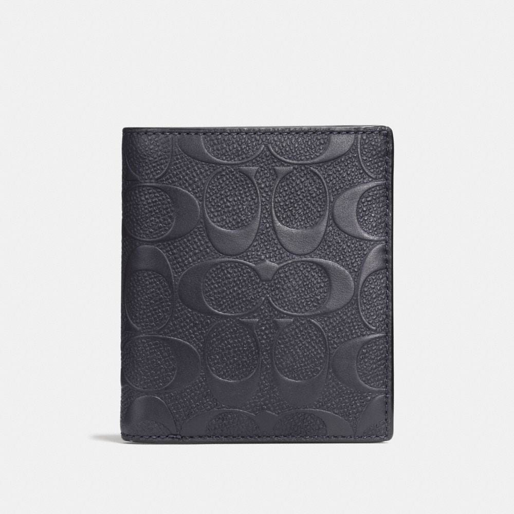 SLIM COIN WALLET IN SIGNATURE LEATHER