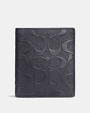 9153d2305d11 SLIM COIN WALLET IN SIGNATURE LEATHER