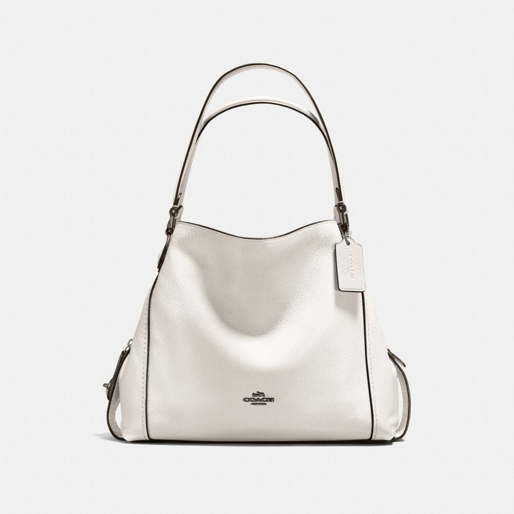EDIE SHOULDER BAG 31 IN POLISHED PEBBLE LEATHER WITH STAR RIVETS