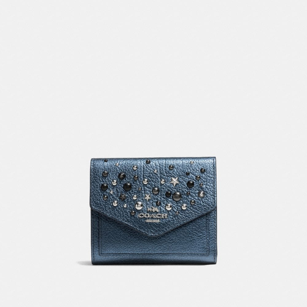 SMALL WALLET WITH STAR RIVETS
