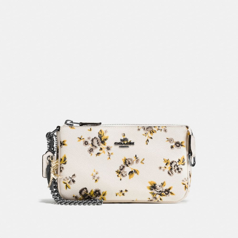 NOLITA WRISTLET 19 IN PRAIRIE PRINT COATED CANVAS WITH REBEL CHARM